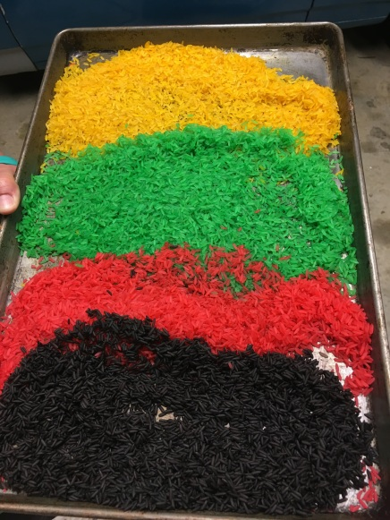 Jamaica Flag Colored Rice for Girl Scouts Thinking Da