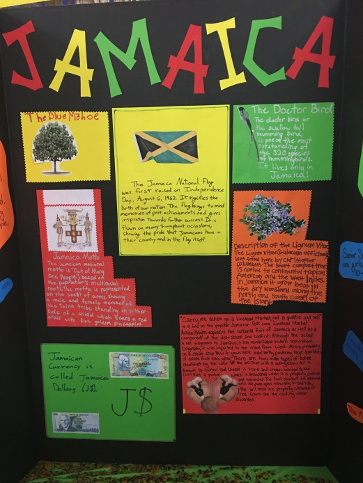 Jamaica Posterboard of facts- Thinking Day Girl Scouts