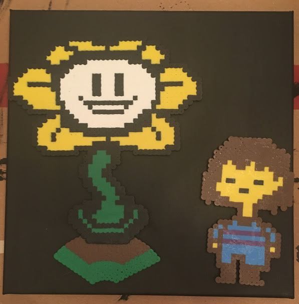 Undertale Party Decorations- Flowey Fisk Canvas