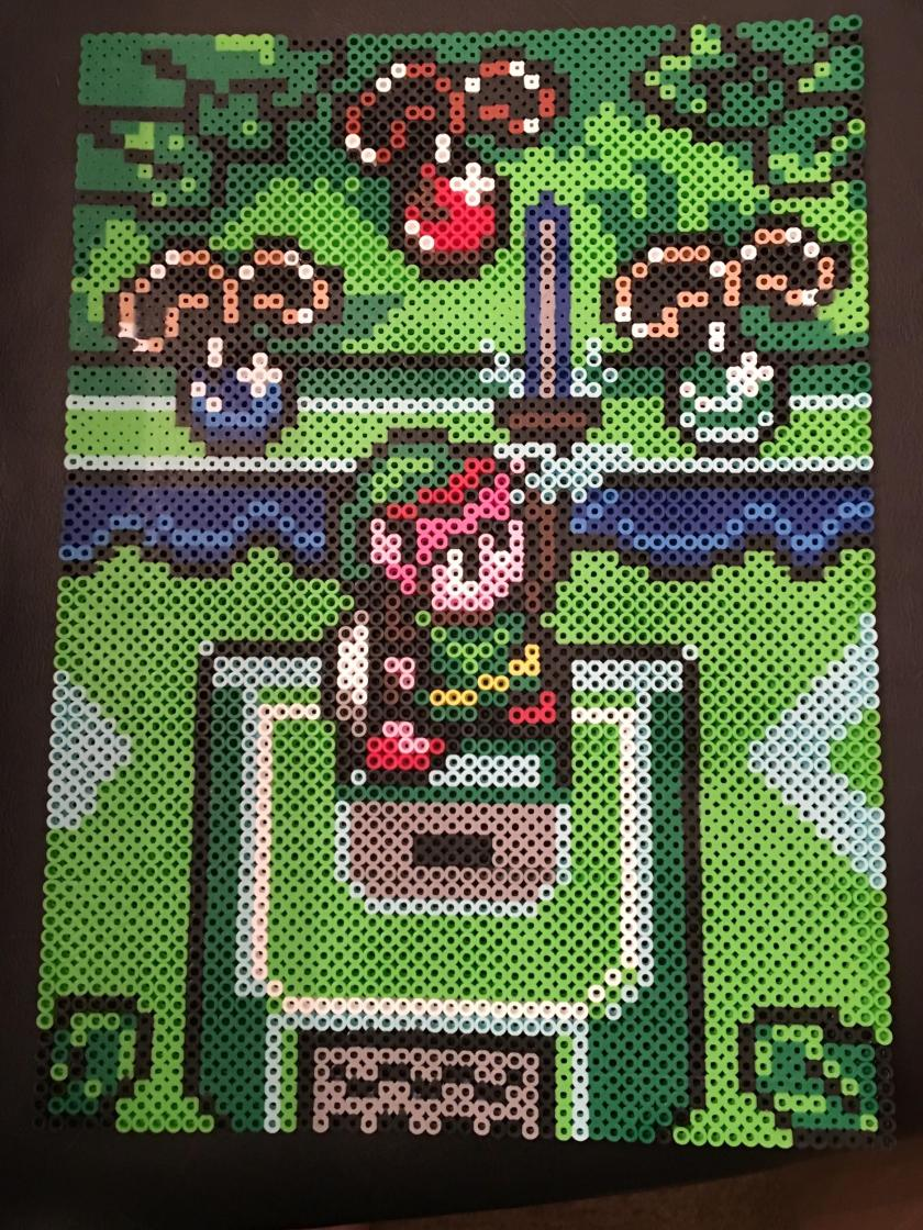 legend of zelda, perler bead, hama bead pattern, gaming