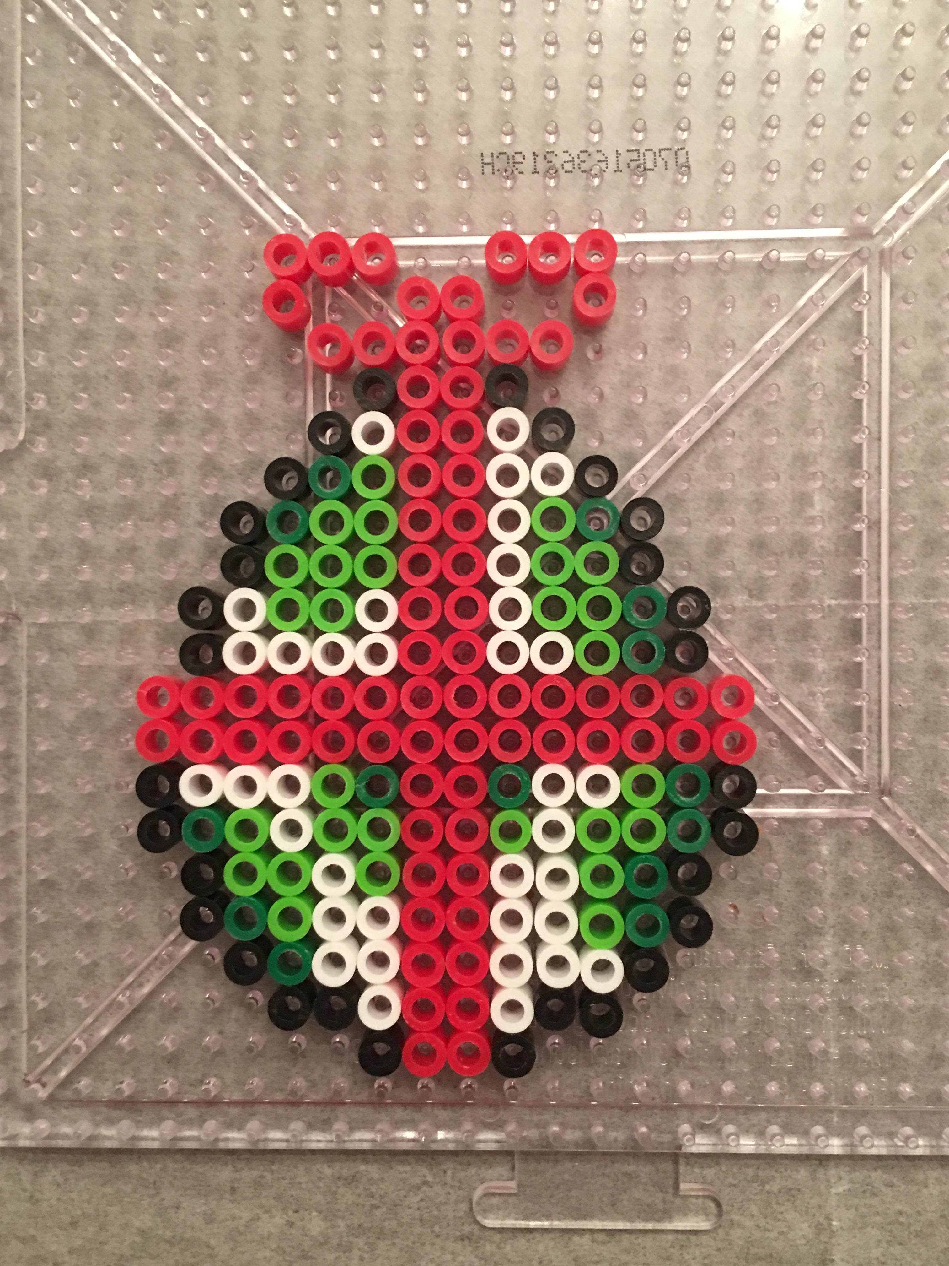 Super Mario Perler Yoshi Egg Christmas Ornament