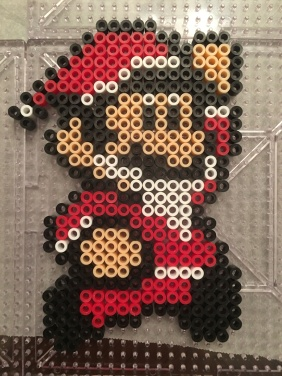 Super Mario Perler Santa Christmas Ornament Hama Melty
