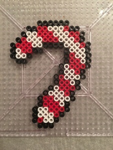Christmas Ornament Candy CanePerler beads
