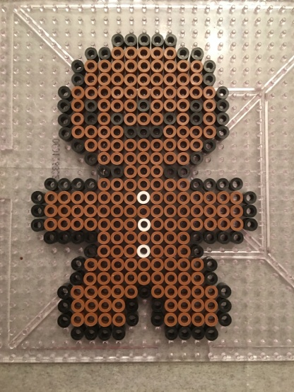 Christmas Ornament Gingerbread Man Perler beads