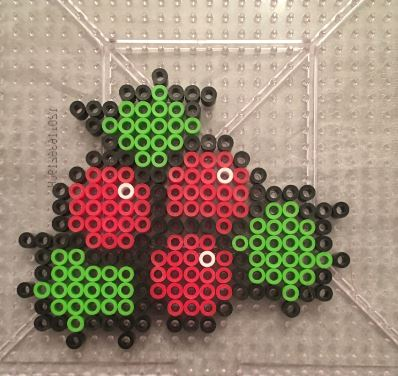 Christmas Ornament Perler Holly