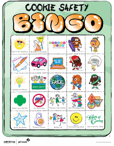 Girl Scout Safety Bingo for Cookie Sales