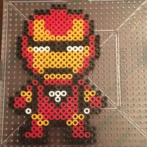 Iron-Man Mini Perler beads