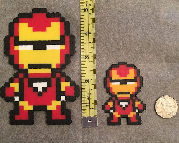 Iron Man, avengers, mini Perler, classic Perler beads