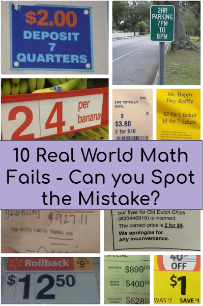 10 real world math fails, mistakes, math errors